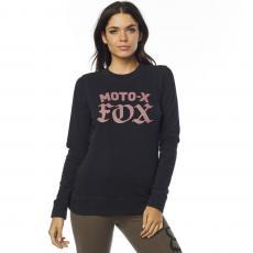 7254b0f5caf Dámská mikina Fox Moto X Crew Fleece Black