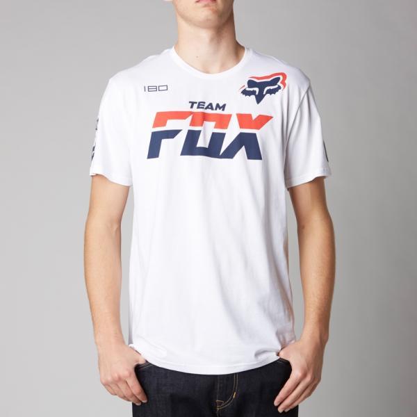 811b5c76c05a Pánské triko - Team Fox Ss Tee Optic White